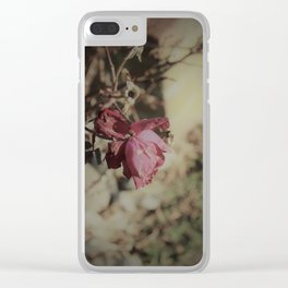 December Rose Clear iPhone Case
