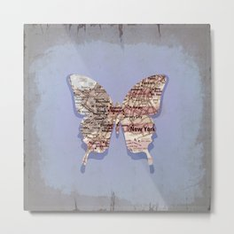 butterfly collection ~ New York Metal Print