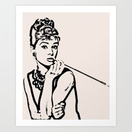Lady With Cig Art Print