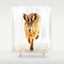 Wait For Me Guys! Hare running #decor #society6 Shower Curtain