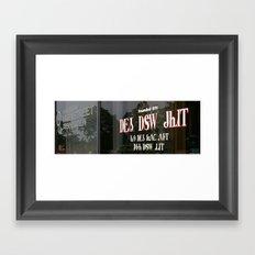 Downtown Window with Cherokee Framed Art Print