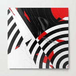 black and white meets red Version 8 Metal Print