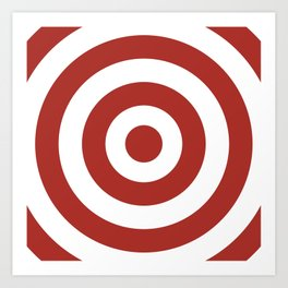 Target (Maroon & White Pattern) Art Print