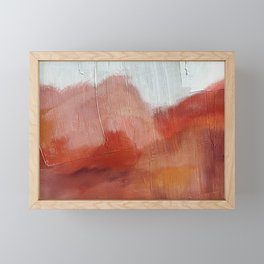 Desert Journey [2]: a textured, abstract piece in pinks, reds, and white by Alyssa Hamilton Art Framed Mini Art Print