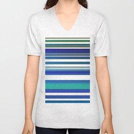 Blue lines 1 Unisex V-Neck