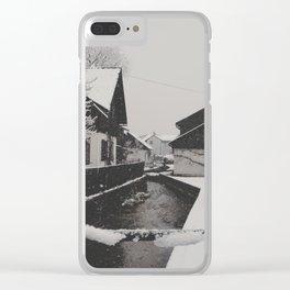 hallstatt under the snow (4) Clear iPhone Case