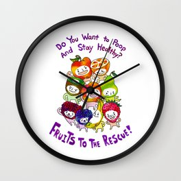 Fruits to Poop! Wall Clock