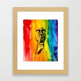 Listen To Colour Framed Art Print