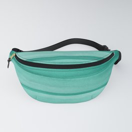 Green Watercolor Lines Pattern Fanny Pack
