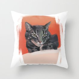 Shelter Cat Throw Pillow