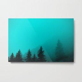 0345v2 Turquoise Fog - Seward, Alaska Metal Print