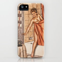 Pinup - Shower Call iPhone Case