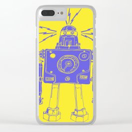 Mr Roboto Clear iPhone Case