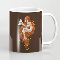 mythology Mugs featuring Kitsune by Freeminds