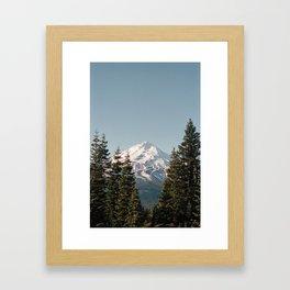 Mt Shasta Morning Framed Art Print