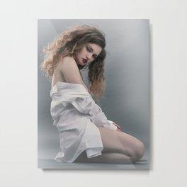 white shirt-20 Metal Print