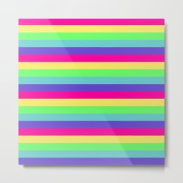 Rainbow Stripes Metal Print