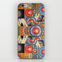 coasters iPhone & iPod Skins featuring Urban Chestnut Collage by Jen Gotsch