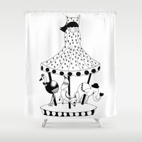 carousel Shower Curtains featuring Carousel by Laurenji Bloom