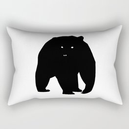 Bear Black Silhouette Pet Animal Cool Style Rectangular Pillow