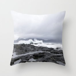 Faroe Islands rocky shores  Throw Pillow
