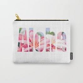 Aloha white Carry-All Pouch
