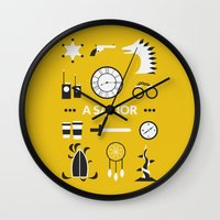 ouat Wall Clocks featuring OUAT - A Savior by Redel Bautista
