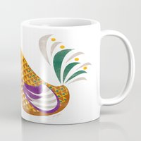 rooster Mugs featuring Rooster by Jackie Sullivan