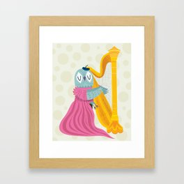 The Owl Harpist Framed Art Print
