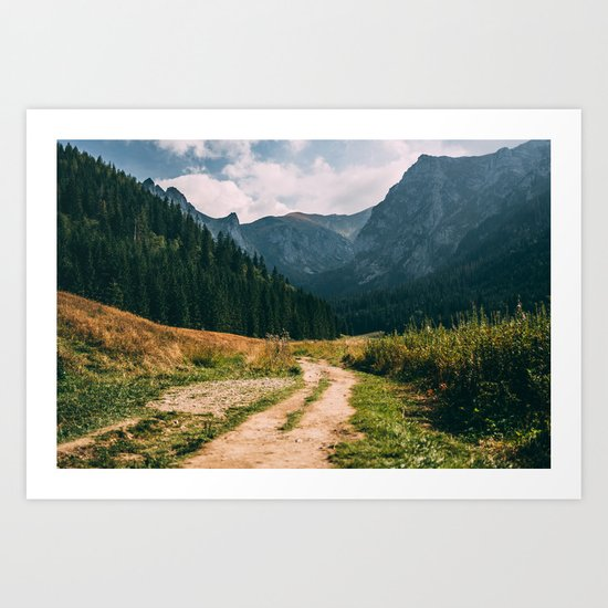 Sunny Mountain Valley Art Print