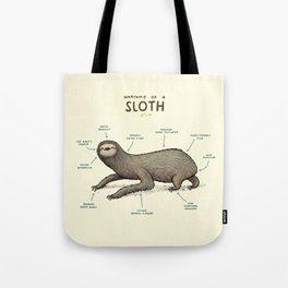 Anatomy of a Sloth Tote Bag