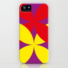 Two four-leaf clovers hugging in a beautiful deep purple space. How lucky! iPhone Case