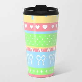 Creepy Cute Stripes Travel Mug