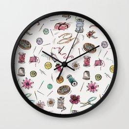 Boo Boo's Mini Sewing Kit Wall Clock