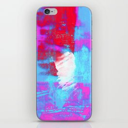abstract blue pink iPhone Skin