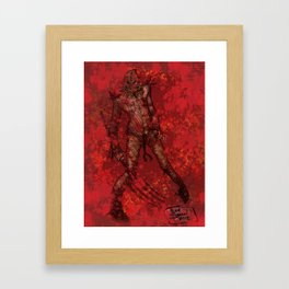 'My Bloody Scarecrow' by Kevin C. Steele Framed Art Print