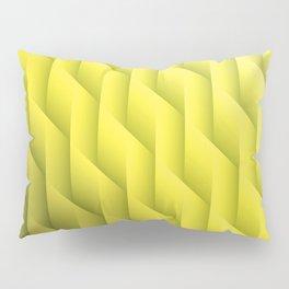 Gradient Yellow Diamonds Geometric Shapes Pillow Sham