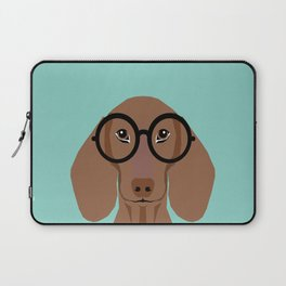 Remy - Daschund with Fashion glasses, hipster glasses, hipster dog, doxie,  Laptop Sleeve