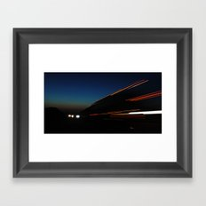 Laser Lights Framed Art Print