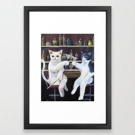 Social Cats  Framed Art Print