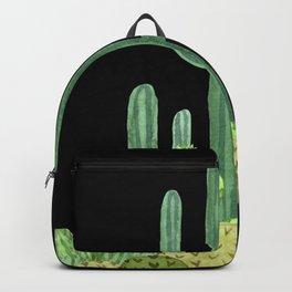 Night Desert Prickly Cactus Bunch Backpack