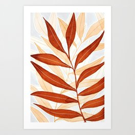 Kelp - Terracotta Art Print