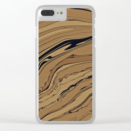 Topaz and Sandstone Clear iPhone Case