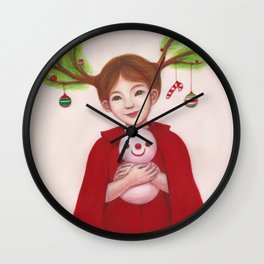 HAPPY CHRISTMAS Wall Clock