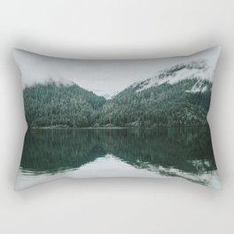 Foggy Reflection at the Alpine Lake Rectangular Pillow