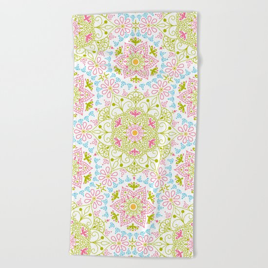 Mandala_Spring Beach Towel