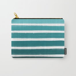 Teal Ombre Carry-All Pouch