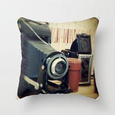 Thrift Store Camera Throw Pillow