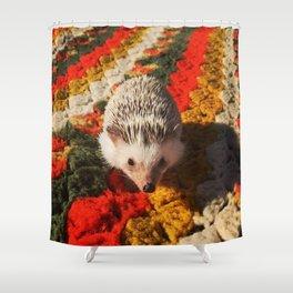 Juni Hedgehog Blanket Shower Curtain