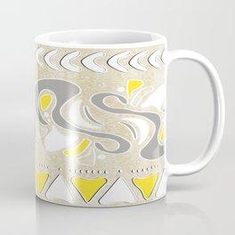 TRIBAL STAMP | oatmeal grey yellow Coffee Mug
